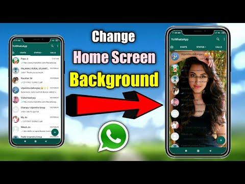 How To Change WhatsApp Home Screen Background - Use Any Photo    Yo