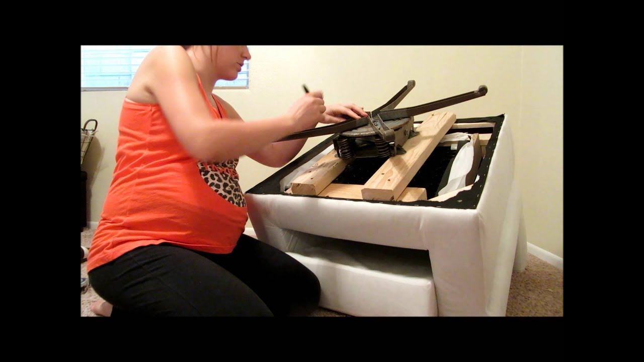 DIY How to make a swivel rocking chair  YouTube