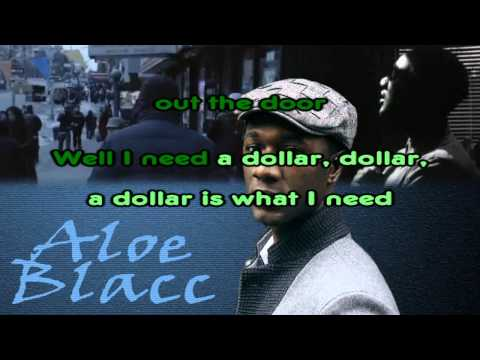 Aloe Blacc - I Need A Dollar (Karaoke / Instrumental) with backing vocals