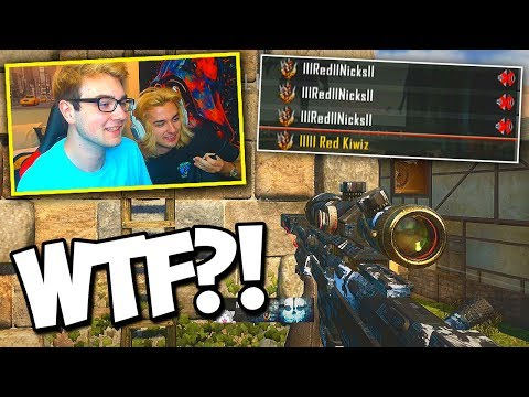 I RAN INTO THREE FAKE RED GAMERTAGS IN ONE LOBBY! (LMAO) - BO2 Trickshotting