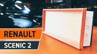 Hvordan man skifter motorluftfilter RENAULT SCENIC 2 Vejledning | Autodoc