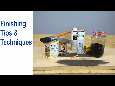 Furniture and Wood Finishing Tips and Techniques