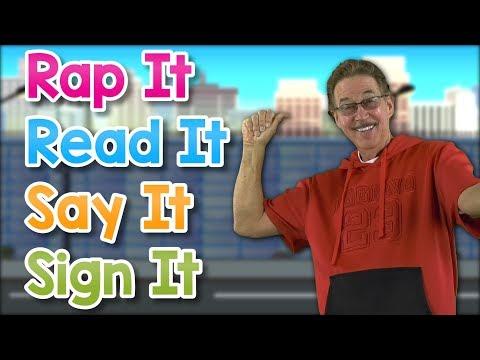 Rap it, Read It, Say It, Sign It | Learn the ASL Alphabet | Jack Hartmann