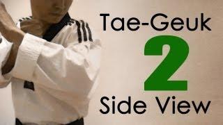WTF Taekwondo poomsae Taegeuk 2 Jhang (Side View) 태극 2장 : taekwonwoo