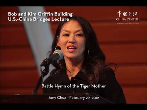 Griffin Lecture 2012: Amy Chua on Increasing Mutual Understanding Between the U.S. and China