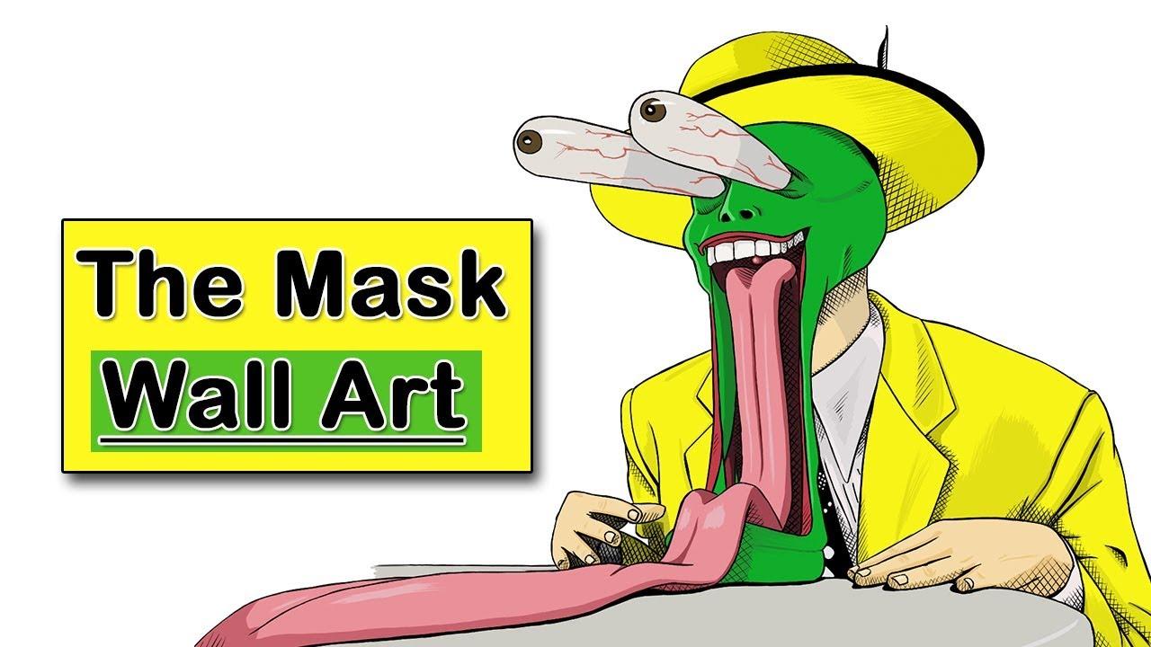 The Mask | Jim Carrey | Wall Art | Be An Artist - YouTube