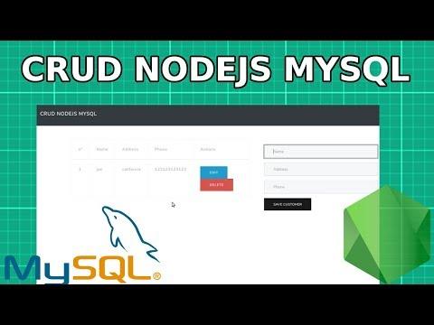 Nodejs Y Mysql CRUD | Aplicación Web Con Node.js Y Mysql