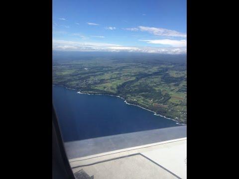 Landing in Big Island Hilo International Airport....