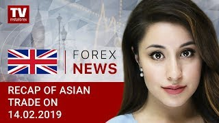 InstaForex tv news: 14.02.2019: Investors welcome China's metrics (USDX, USD/JPY, AUD/USD)