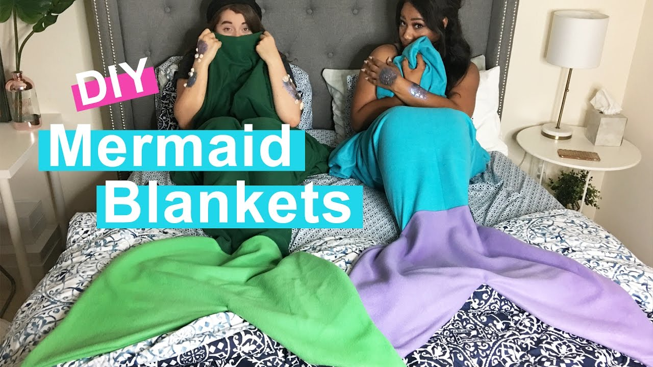 How to make a mermaid tail blanket out of fleece