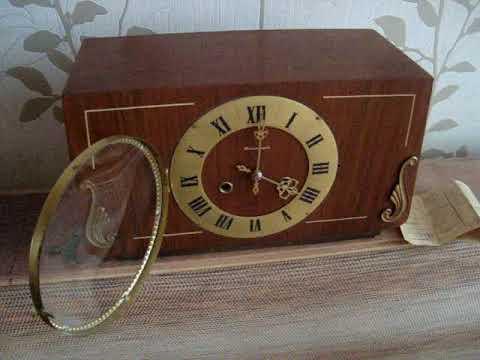 Часы каминные (настольные) с боем Янтарь 1979г