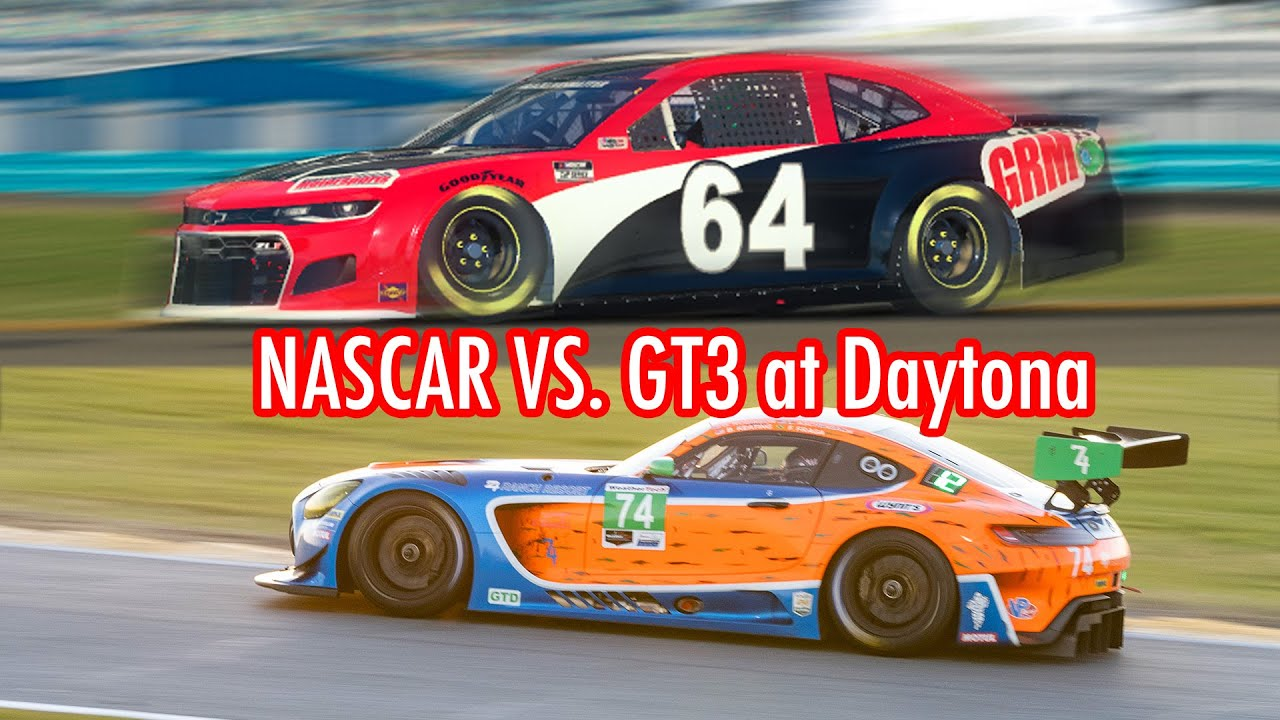 NASCAR vs. Mercedes-AMG GT3 on the Daytona Road Course