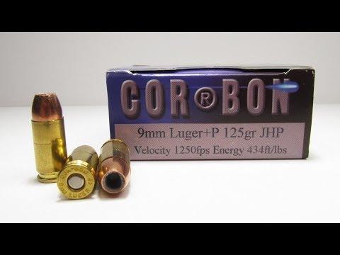 Ammo Test - Corbon 9mm +P 125 Grain JHP - Gun Videos