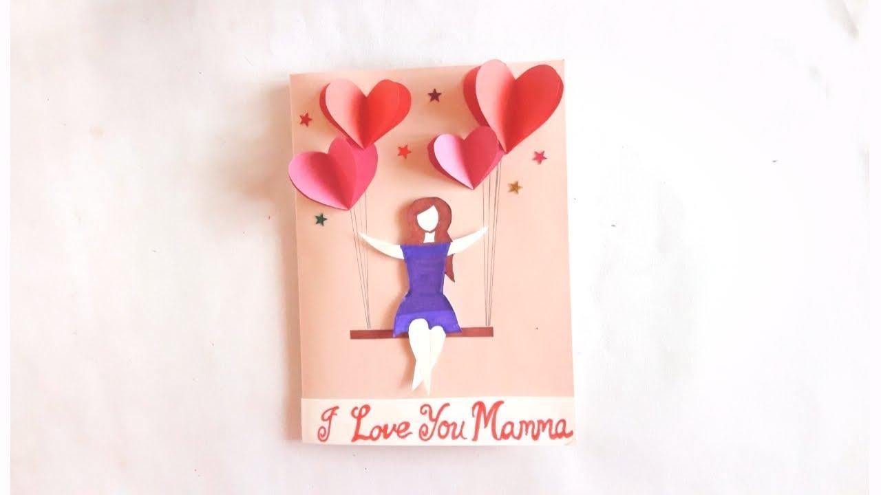 Birthday Greeting Card Idea Specially For Mom Easy To Make Card Idea Youtube