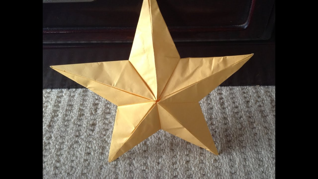 すべての折り紙 折り紙 飾り 折り方 : 折り紙 クリスマス飾り星 折り ...