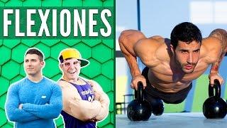 flexiones desarrollar pectorales hombros y brazos