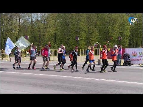 Улицы Великого Новгорода в 73-й раз стали дистанциями легкоатлетической эстафеты