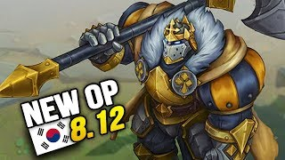 8 new op builds and champs in korea patch 812 so far league of legends