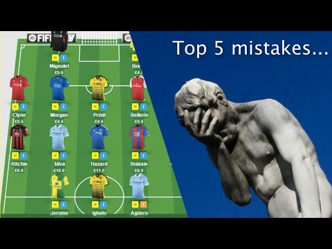 Top 5 Fantasy Premier League mistakes to avoid
