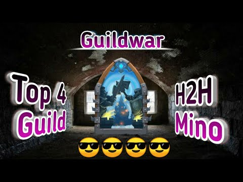 Guildwar | Top-4 Guild Together | H2H | Killing Lava | 2nd Account Mino(Stealth) | Castle Clash