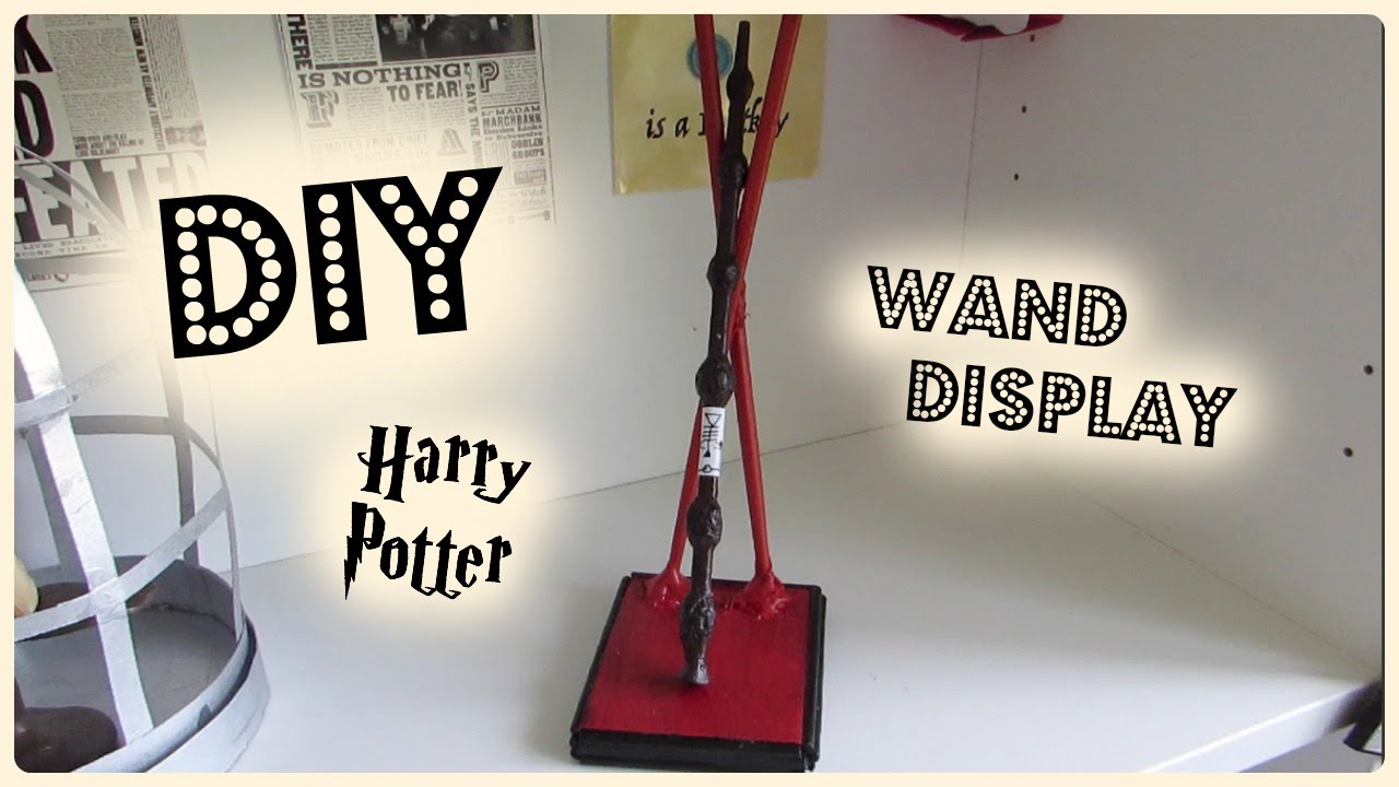 Diy Harry Potter Wand Stand I Tutorial To Make Harry Potter Prop