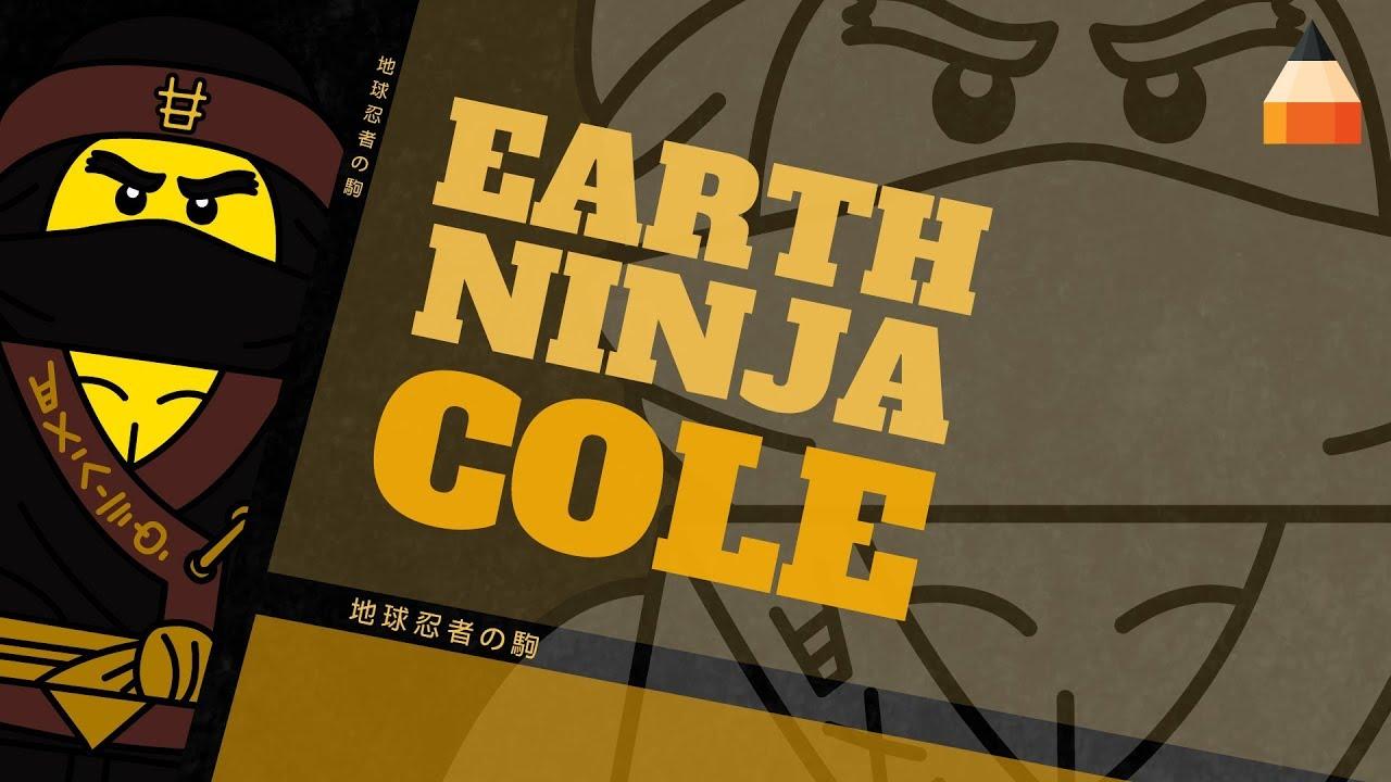 How To Draw Ninja Cole Ninja Cole The Lego Ninjago Movie Youtube