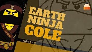 How To Draw Ninja Cole | The LEGO Ninjago Movie