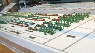 トヨタ産業技術記念館繊維機械館、連続自動紡績の工場(1/100 模型)の動画♪BGM thumbnail