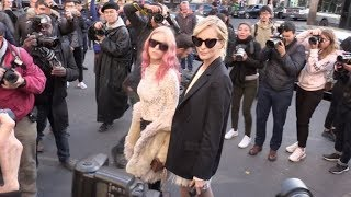 Alexa Chung, Poppy Delevingne and more arriving at the Stella McCartney Show