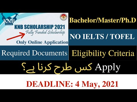 kNB Scholarship Indonesia, 2021 | Scholarship for Pakistani Students| NO IELTS/ TOFEL| How to Apply