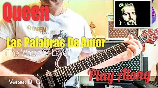 Queen - Las Palabras De Amor (The Words Of Love) Guitar Chords & Tabs