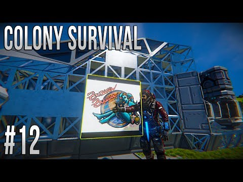 Space Engineers - Colony Survival Ep #12 - REPUBLIC GUNSHIP!