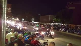 Night cruise Bikes, Blues, Bbq 2016