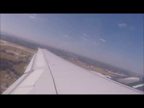 Frontier Airlines A320 Take Off From Tampa Intl