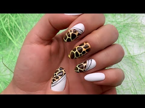 АНИМАЛИЗМ на ногтях. Яркий принт с паутинкой. Идеальные ногти