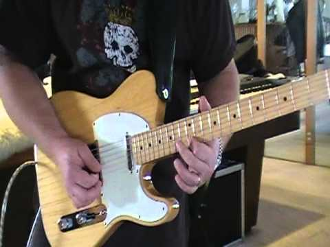Funky minor blues guitar solo with keyboard loop