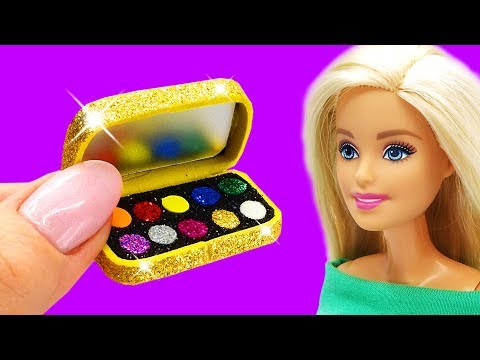 Barbie Doll Makeup Set . DIY for Kids. How to Make Miniature Crafts