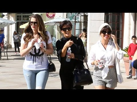 Kris Jenner Asked To Confirm Kim Kardashian's Baby's Name, Shops With Khloe And Kourtney  [2013]