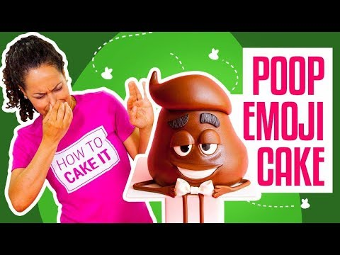 How To Make Poop From The EMOJI MOVIE Out Of CAKE  Yolanda Gampp  How To Cake It