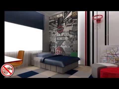 Дизайн интерьера  подростка мальчика.