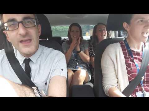 Sacred Heart carpool karaoke