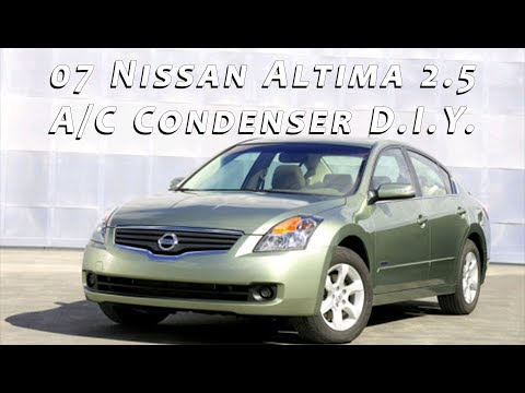2007 Nissan Altima AC Condenser Removal and Replacement DIY