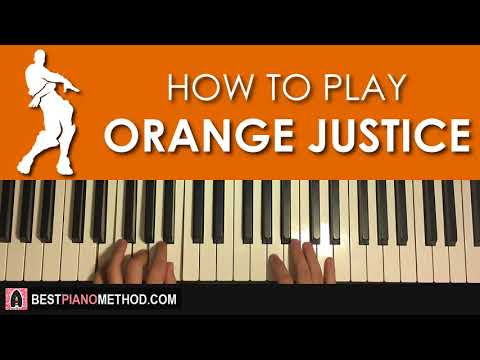 HOW TO PLAY - FORTNITE DANCE - Orange Justice (Piano Tutorial Lesson)