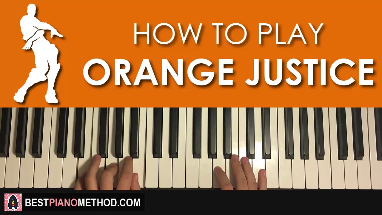 how to play fortnite dance orange justice piano tutorial lesson amosdoll music - fortnite default dance sheet music alto sax