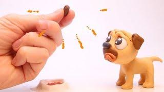 Dog & tree 💕 Superhero Clay Stop motion cartoons