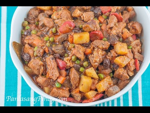 Menudo with Raisins and Green Peas