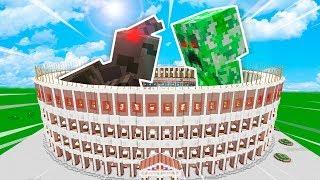 CREEPER TITAN VS ARAÑA TITAN 😱💥EL COLISEO (MINECRAFT MODS)