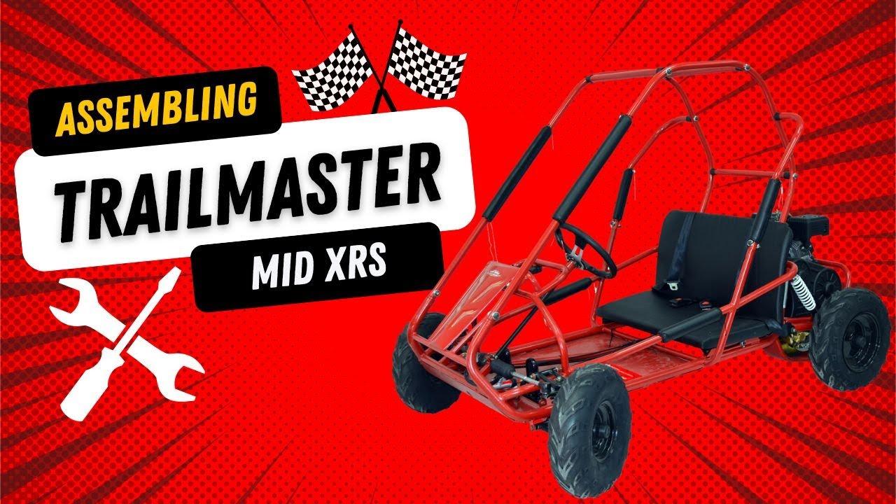 Assembling the Go Power Sports Mid Size Go Kart Kit - YouTube