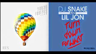 Gambar cover BTS X DJ Snake & Lil John | Fire Down For What - Turn Down For What Vs Fire MASHUP (REMIX)