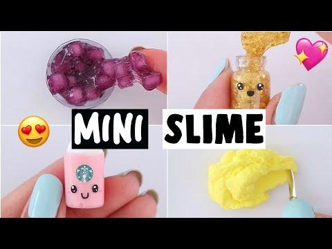 EXTREME MINI SLIMES! *making viral jelly cube, starbucks, glitter slime recipes*